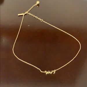 "Kate Spade ""Mrs"" Necklace"